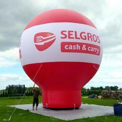 Balon reklamowy prosty 8m_Selgros - producent dmuchańców reklamowych Clevair