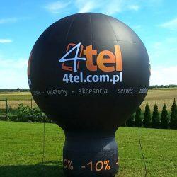 Balon reklamowy taliowany 3m_4Tel - producent dmuchańców reklamowych Clevair