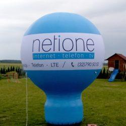 Balon reklamowy taliowany 3m_Netione - producent dmuchańców reklamowych Clevair