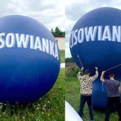 Balon reklamowy taliowany 4m_Cisowianka - producent dmuchańców reklamowych Clevair