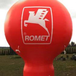 Balon reklamowy taliowany 4m_Romet - producent dmuchańców reklamowych Clevair
