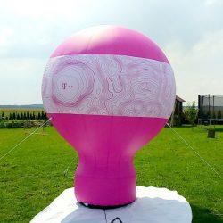 Balon reklamowy taliowany 4m T-Mobile - producent dmuchańców reklamowych Clevair
