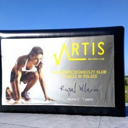 Airwall raklamowy 5x3m Artis - producent reklam dmuchanych Clevair