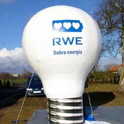 balon reklamowy Żarówka 4m RWE