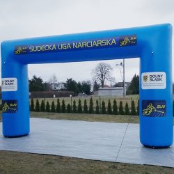 Brama reklamowa 5x3m Sudecka Liga Narciarska