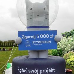 Dmuchany kot 2,7m Myszkin - producent reklam dmuchanych Clevair