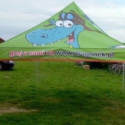 Namiot reklamowy stelażowy 3x3m dragonek