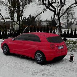 Samochód dmuchany 4m Mercedes - producent reklam dmuchanych Clevair