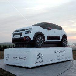 Samochód dmuchany 6m Citroen - producent reklam dmuchanych Clevair