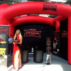 Stoisko reklamowe dmuchane 6x4m DragonWinch- producent reklam dmuchanych Clevair