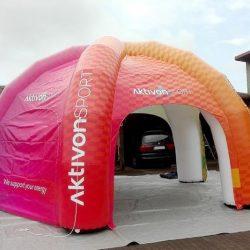Namiot reklamowy 5n6x3m ActivonSport - producent reklam dmuchanych Clevair