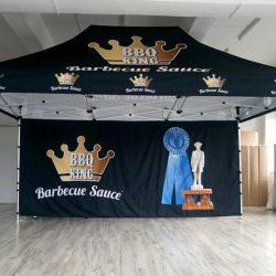 Namiot reklamowy stelazowy 4,5x3m BBQ - producent reklam dmuchanych Clevair