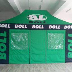 Namiot reklamowy stelazowy 4,5x3m BOLL - producent reklam dmuchanych Clevair