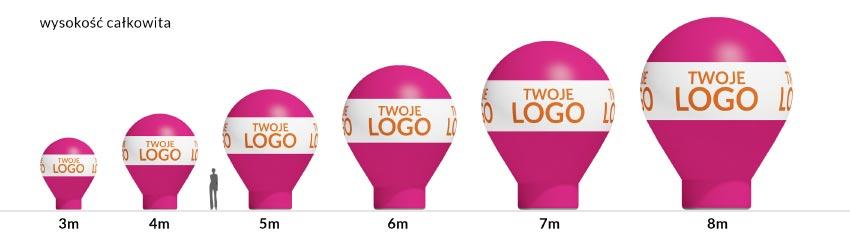 zestawienie balony kropla - producent reklam eventowych Clevair