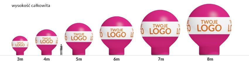 zestawienie balony proste - producent dmuchańców Clevair