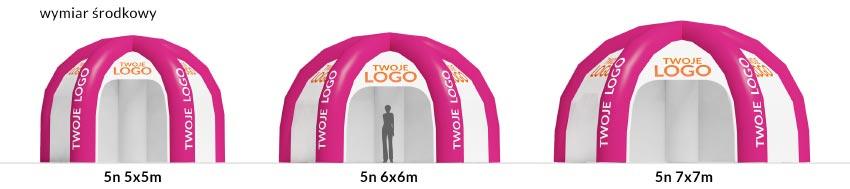 zestawienie namioty 5n - producent dmuchańców reklamowych Clevair