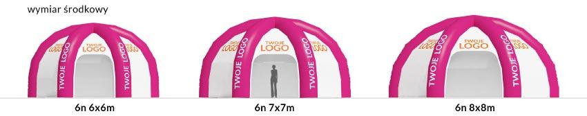 zestawienie namioty 6n - producent dmuchańców reklamowych Clevair