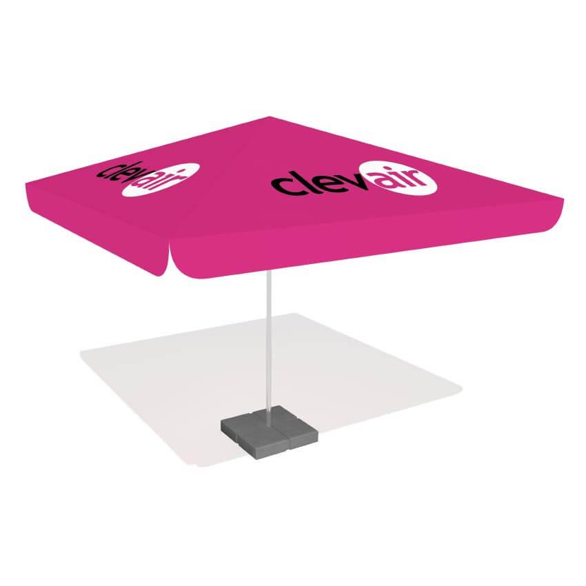 parasole reklamowe - producent reklam stelażowych Clevair